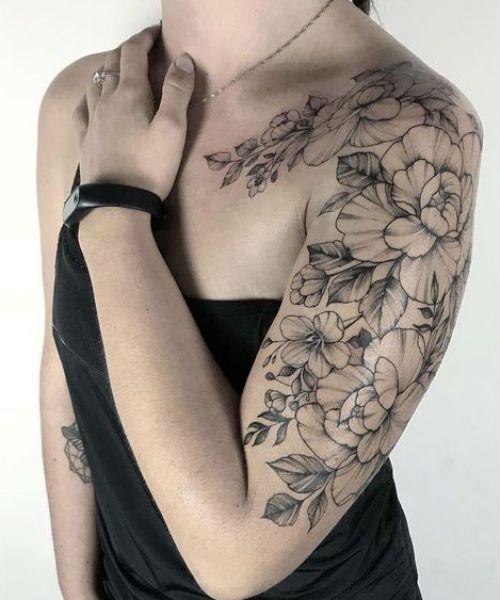 Cool Flower Tattoos : flower, tattoos, Irresistible, Floral, Tattoo, Designs, Shoulder, Girls, Tattoos, Women,, Sleeve, Women, Flowers