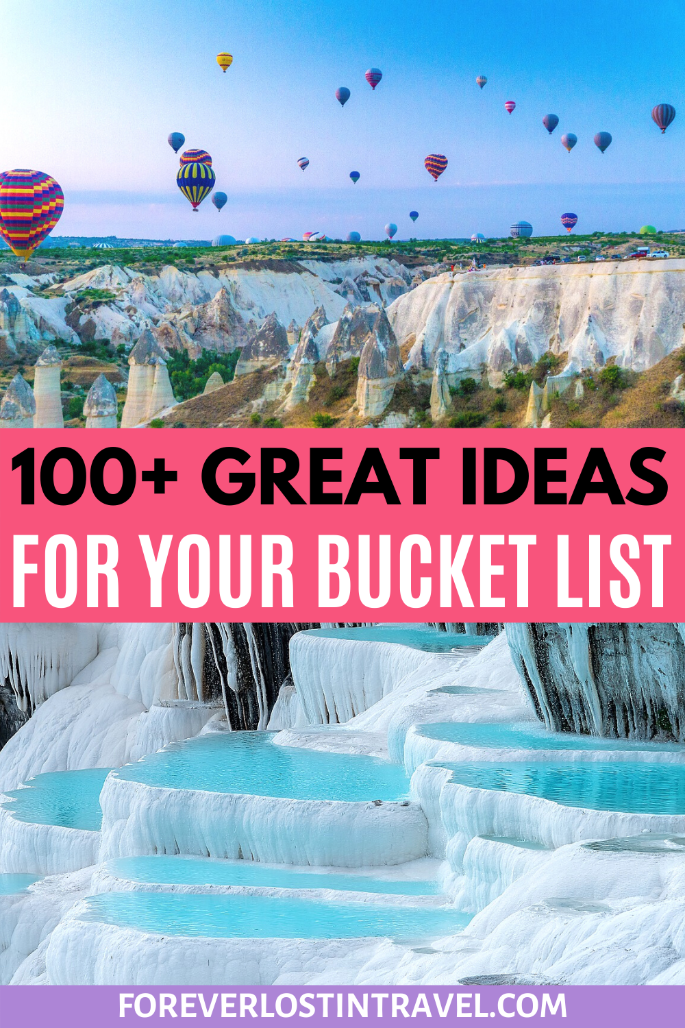 Plan your next dream trip with over 100 amazing ideas of bucket list destinations from all over the world. 2021 travel never looked so good #foreverlostintravel #bucketlist #travel #dreamtrip #vacationplanning #tripplanning #travelinspiration