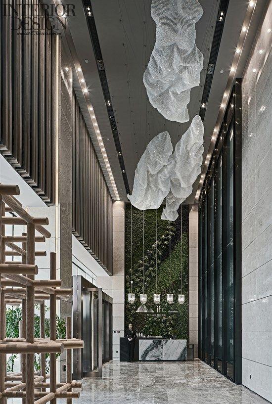 New town shandong greenland international finance center ifc exhibition center american for International interior design exhibition
