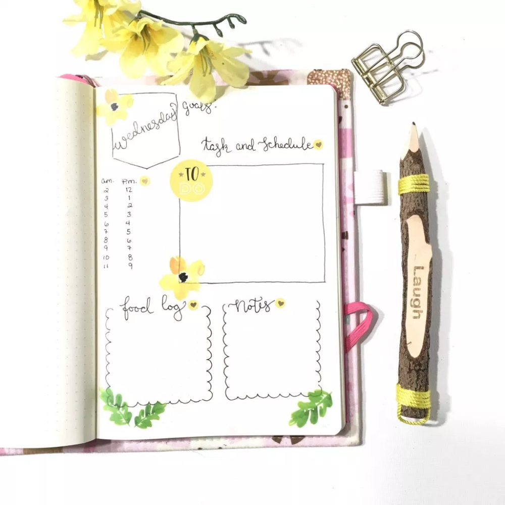 Simple Daily Layouts for Your Bullet Journal - Productive & Pretty