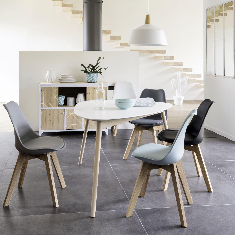 Suspension En Metal Blanc D 40 Cm Maisons Du Monde Chaise Style Scandinave Chaise Salle A Manger Table Salle A Manger