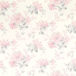 Honeysuckle Trail Cyclamen Floral Wallpaper