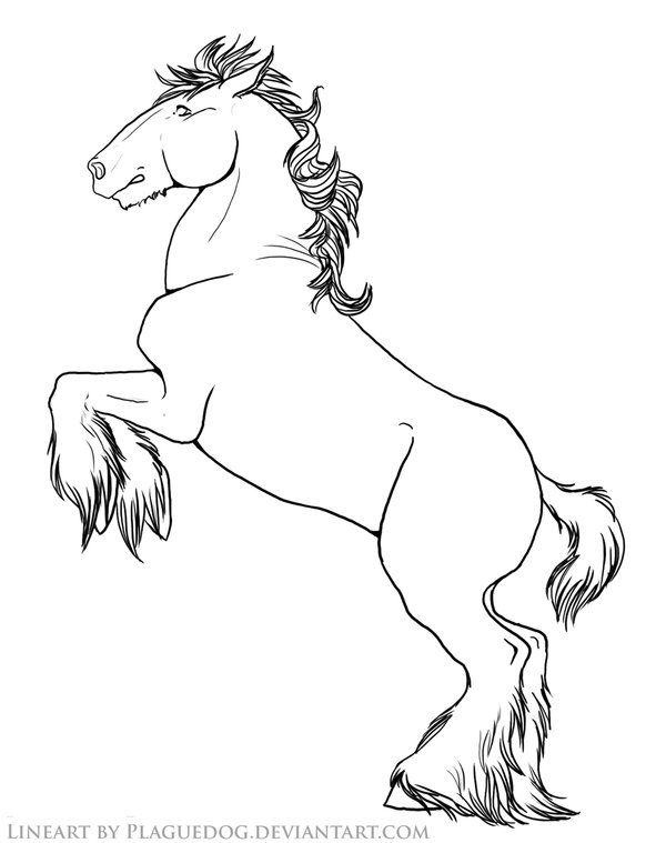 Rearing Draft Horse Horse Coloring Pages Cute Coloring Pages Free Coloring Pages