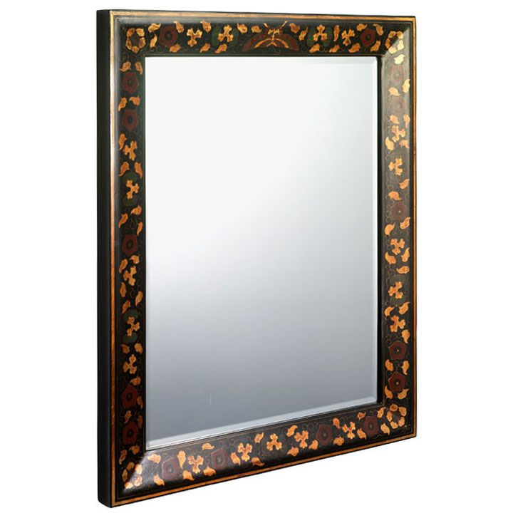 Red Wall Mirror classic chinese painted wall mirror in red, cream or black lacquer
