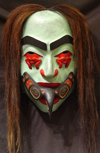 Volcano Woman Mask by Kwakwaka'wakw artist Beau Dick