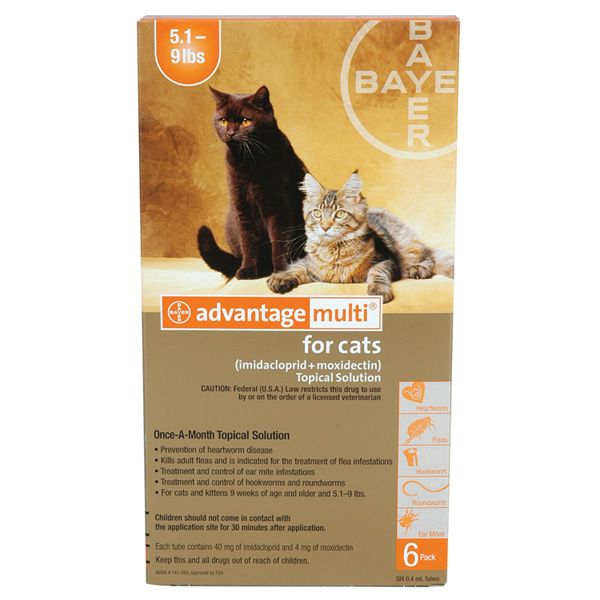 Advantage Multi For Cats 2 5 Lbs 3 Pack Cats Heartworm Cats