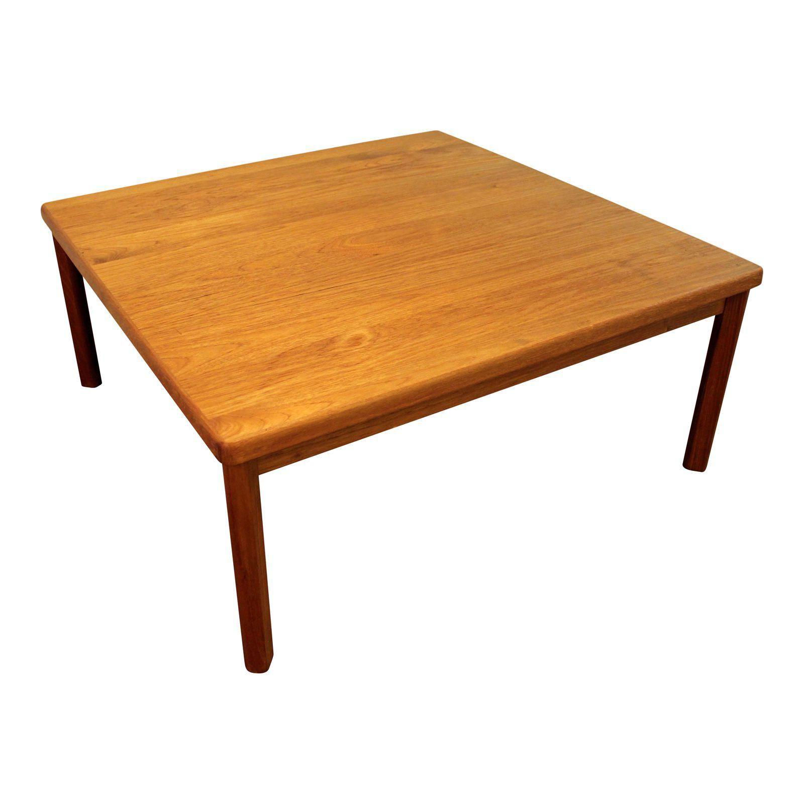 Mid Century Danish Modern Square Teak Coffee Table Image 1 Of 10 Coffee Table Teak Coffee Table Square Teak Coffee Table
