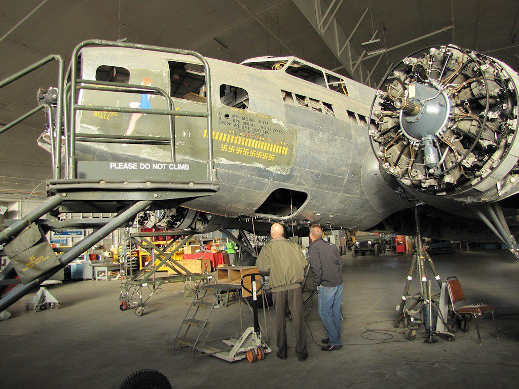 """B17F """"Memphis Belle"""" This photo was taken by a buddy of"""