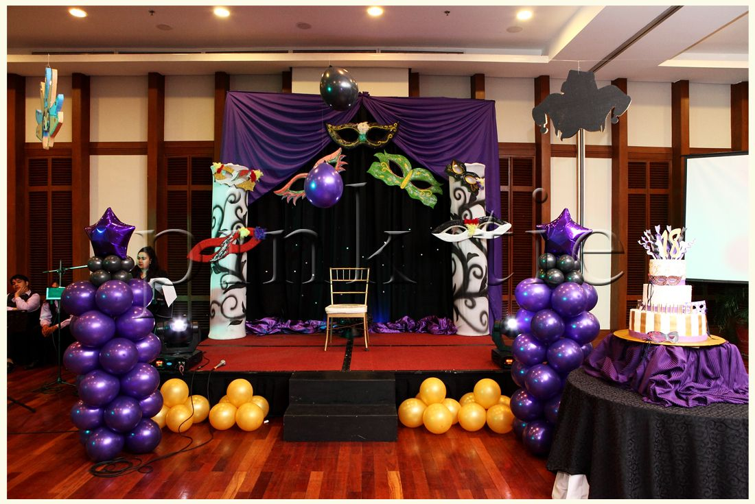 masquerade party ideas | 18th birthday party | pink tie party ...