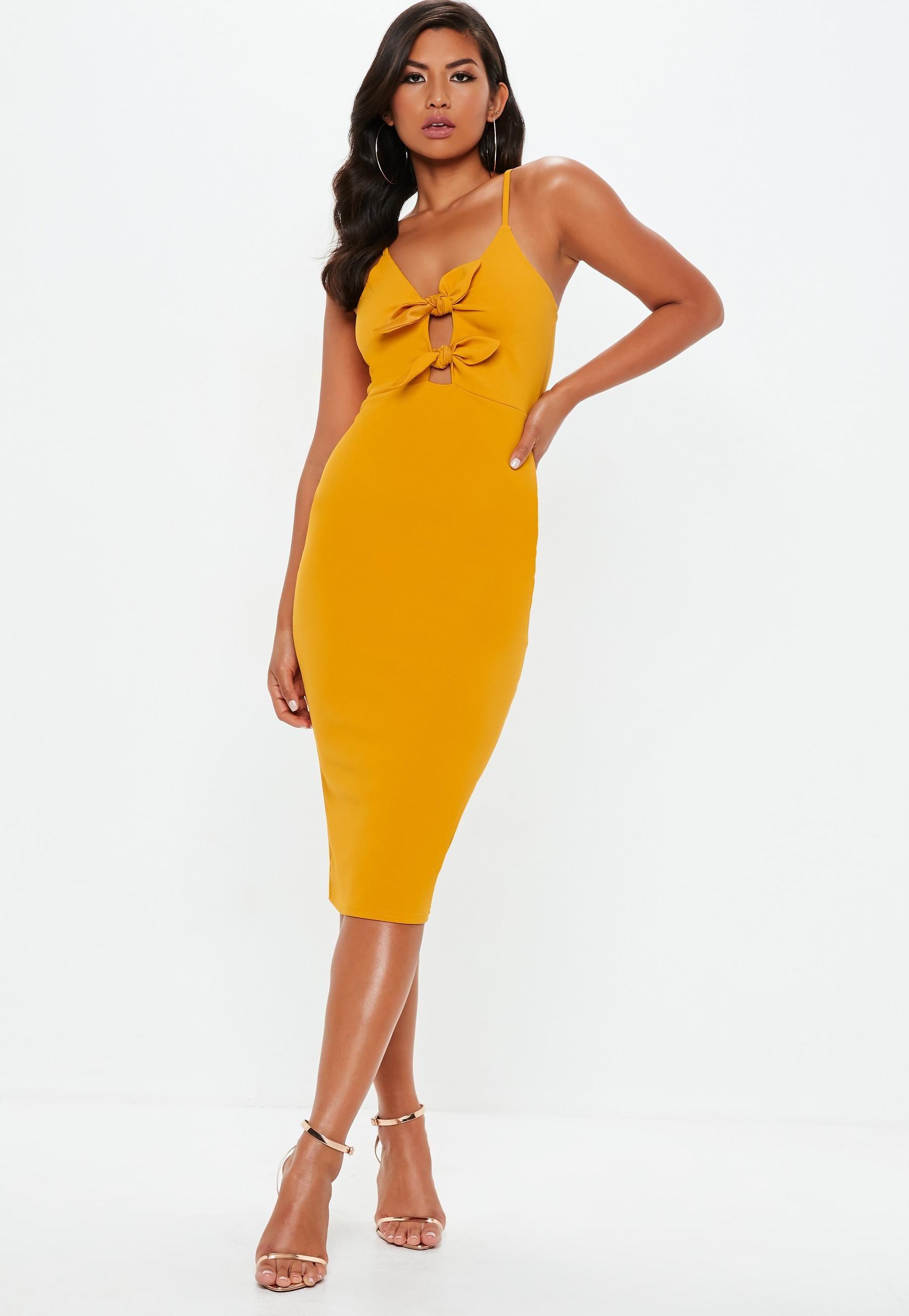 d9c27f9a9556 Black Strappy Tie Front Midi Dress | Outfits | Dresses, 15 dresses ...