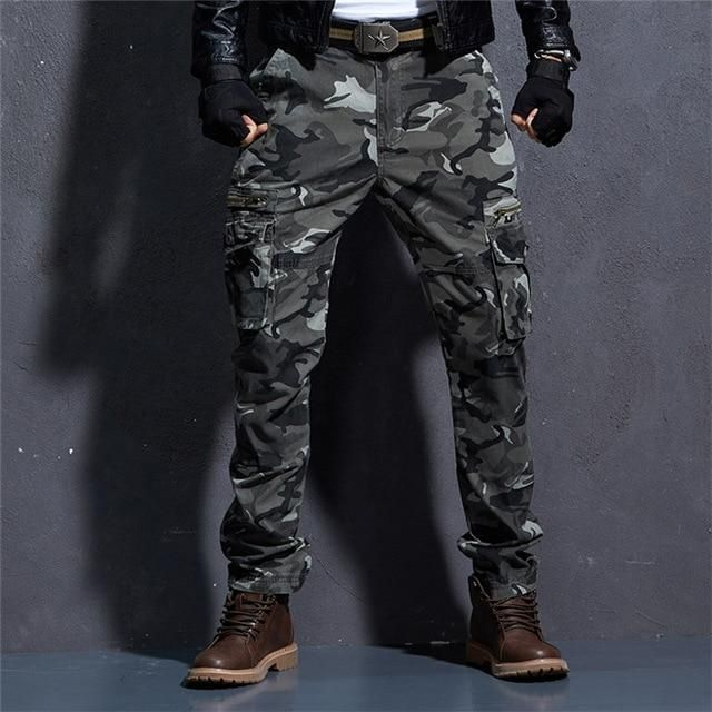 af87b44ff6569 Camo Pants For Mens Military Style Tactical Cargo Pants Army Camouflage  Straight Trousers Multi Pocket Camo Joggers - 2 Colors Pant Style: Military  Cargo ...
