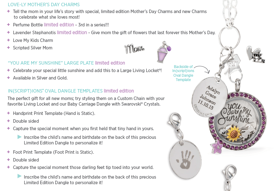 Celebrate Mom this year with a Locket from our Mother's Day collection. Shop this look and so much more at darlasandor.origamiowl.com Find me on FB at facebook.com/darlasorigamiowl