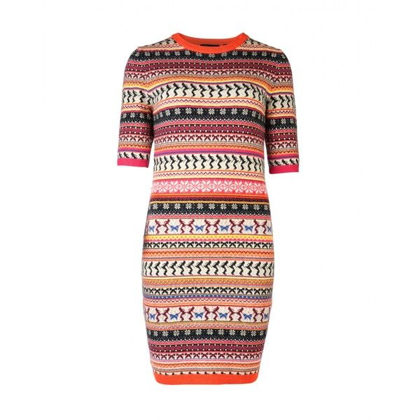Fairisle knitted dress GRYNE ($220) ❤ liked on Polyvore ...