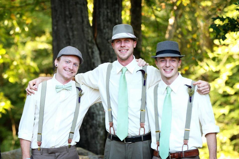Hats   suspenders!  groom  groomsmen  477055fdbb5