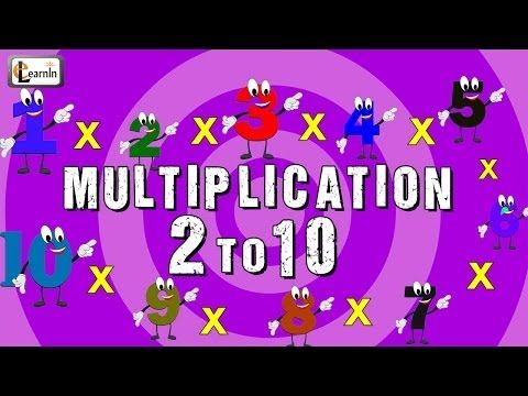 Multiplication Tables 2 To 10 Multiplication Songs For Children