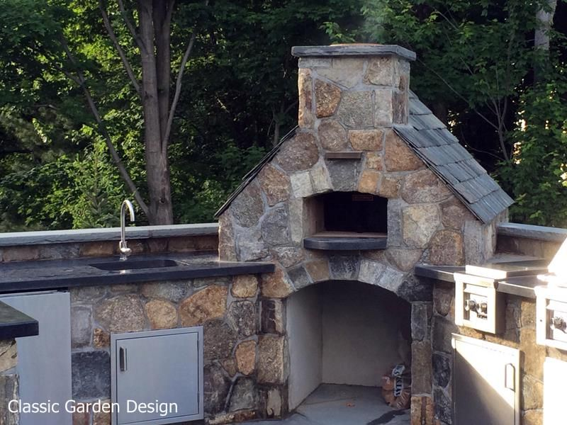 Outdoor Kitchen Designs With Pizza Oven Outdoor Kitchen & Pizza Oven  Westport Ct  Classic Garden Design