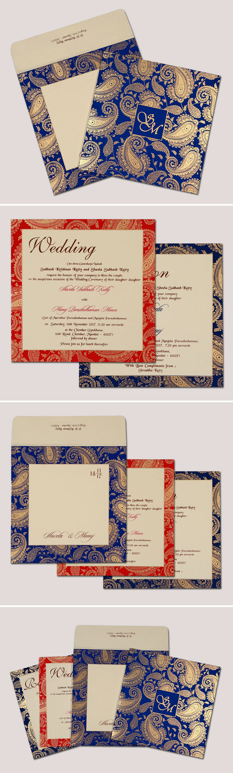 Online Indian Wedding invitations IN 1699