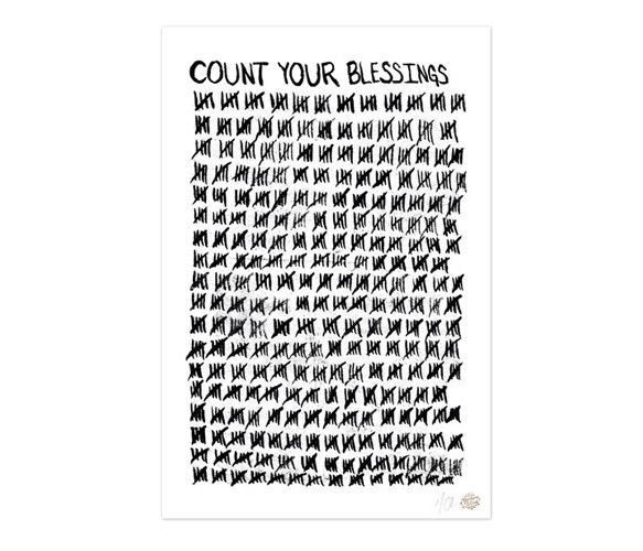 Count Your Blessings Art Print   by BrineAndByway
