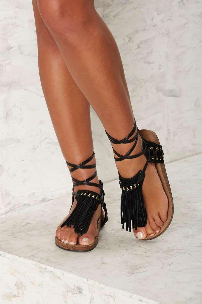f9869c1ed8da Sam Edelman Kyra Fringe Gladiator Sandal - Shoes