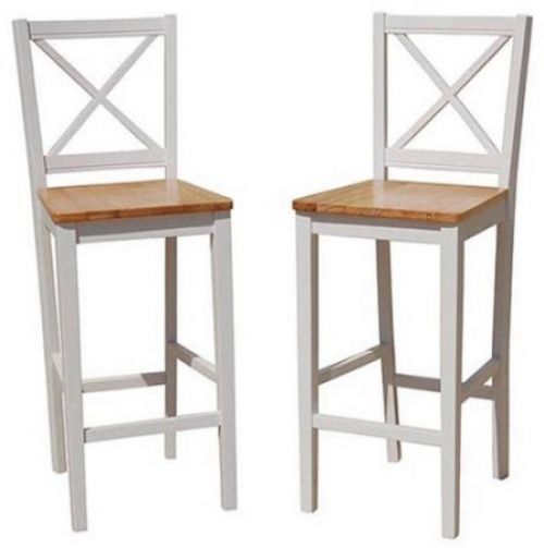 Bar Stools 30 Inches With Back Wood Counter Height Chairs Kitchen