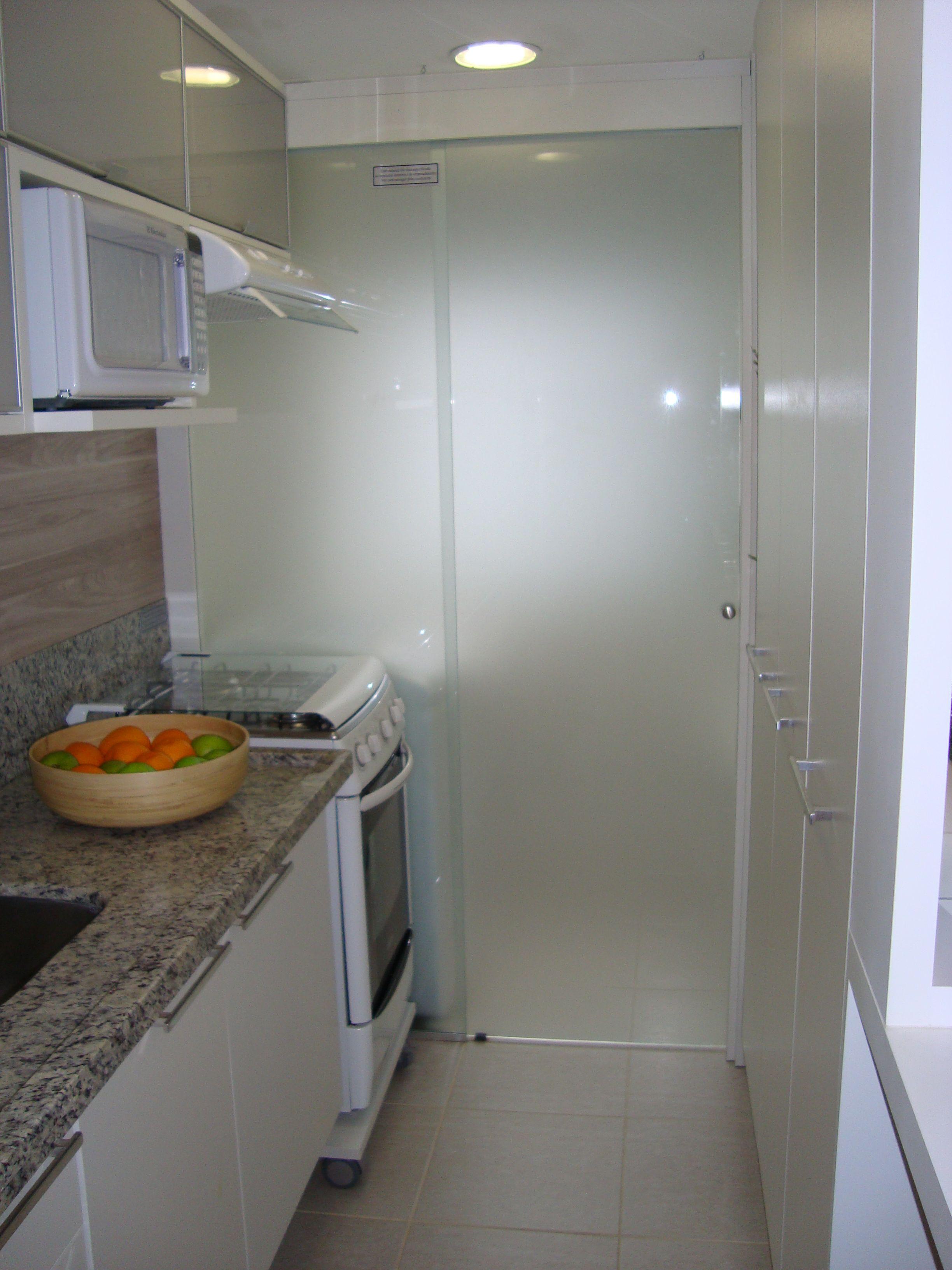 Armario De Parede Com Porta De Correr : Porta de correr na parede do fog?o cozinhas