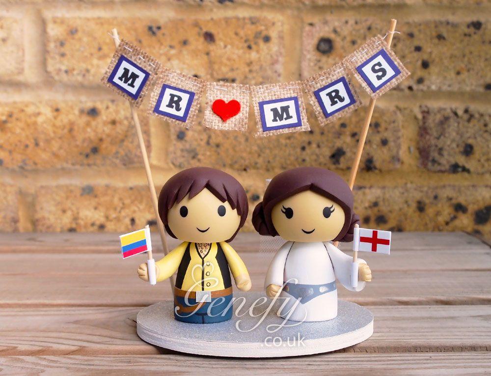 Star Wars Han Solo And Princess Leia Wedding Cake Topper By GenefyPlayground Facebook Genefyplayground
