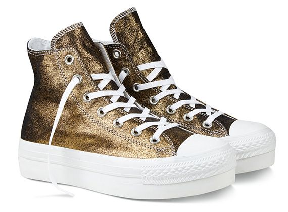 3014db174e6 Converse Chuck Taylor All Star Metallic Platform Sneakers ...