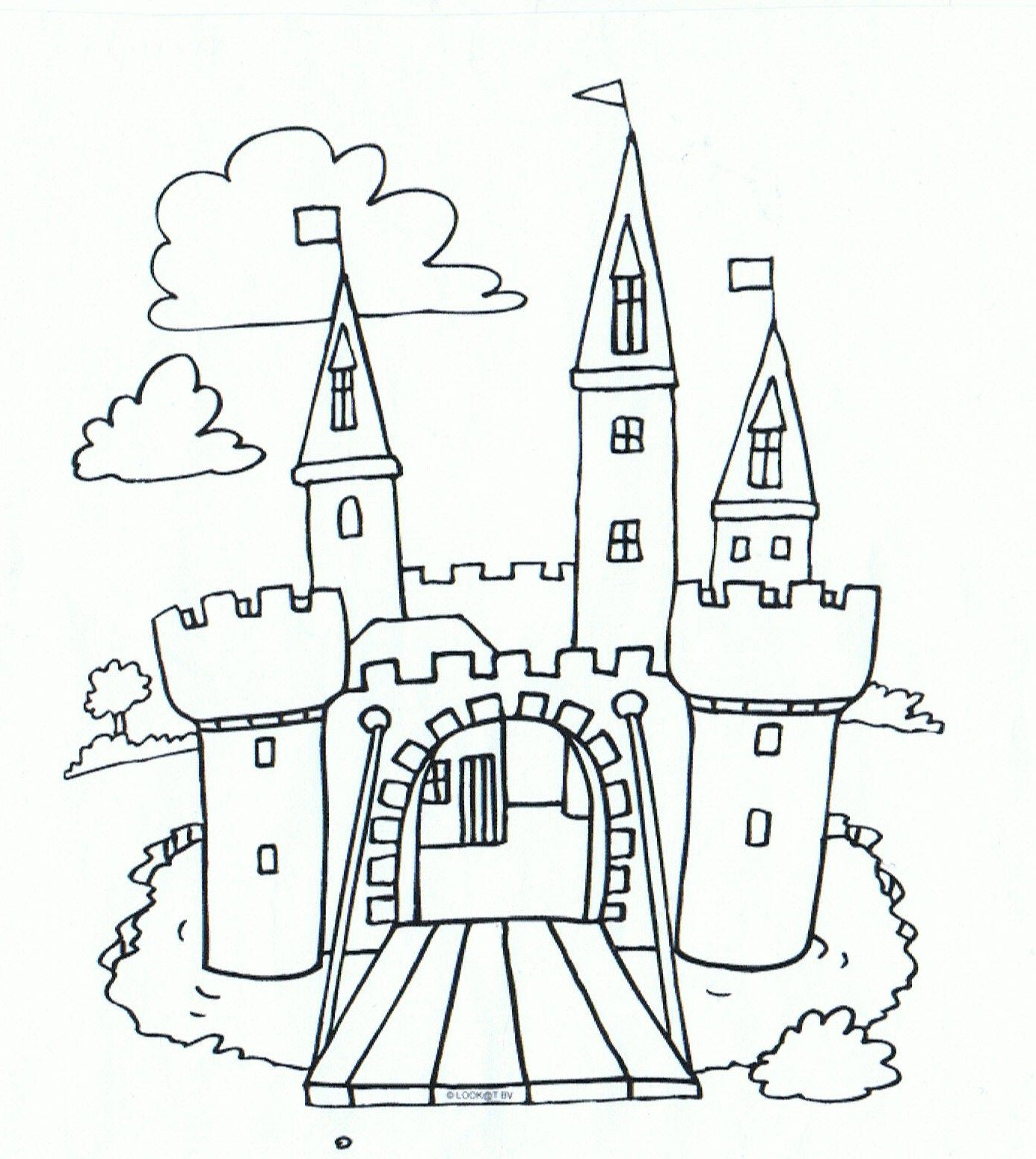 easy castle coloring pages bible crafts easy drawings