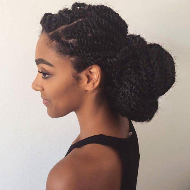 trendy marley twist low bun hairstyles pinterest