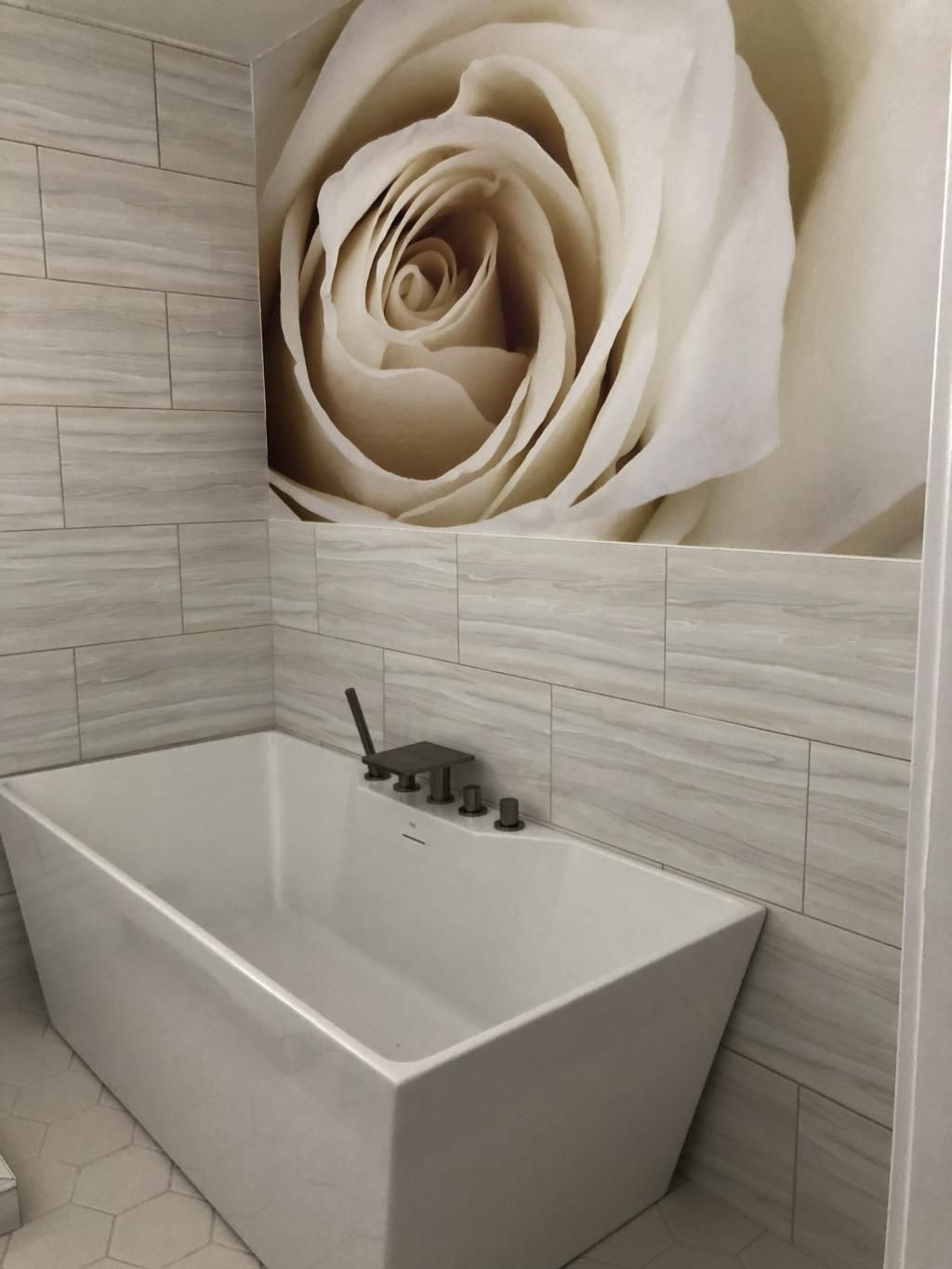 Close Up Of Beautiful White Rose Wall Mural Bathroom Wallpaper