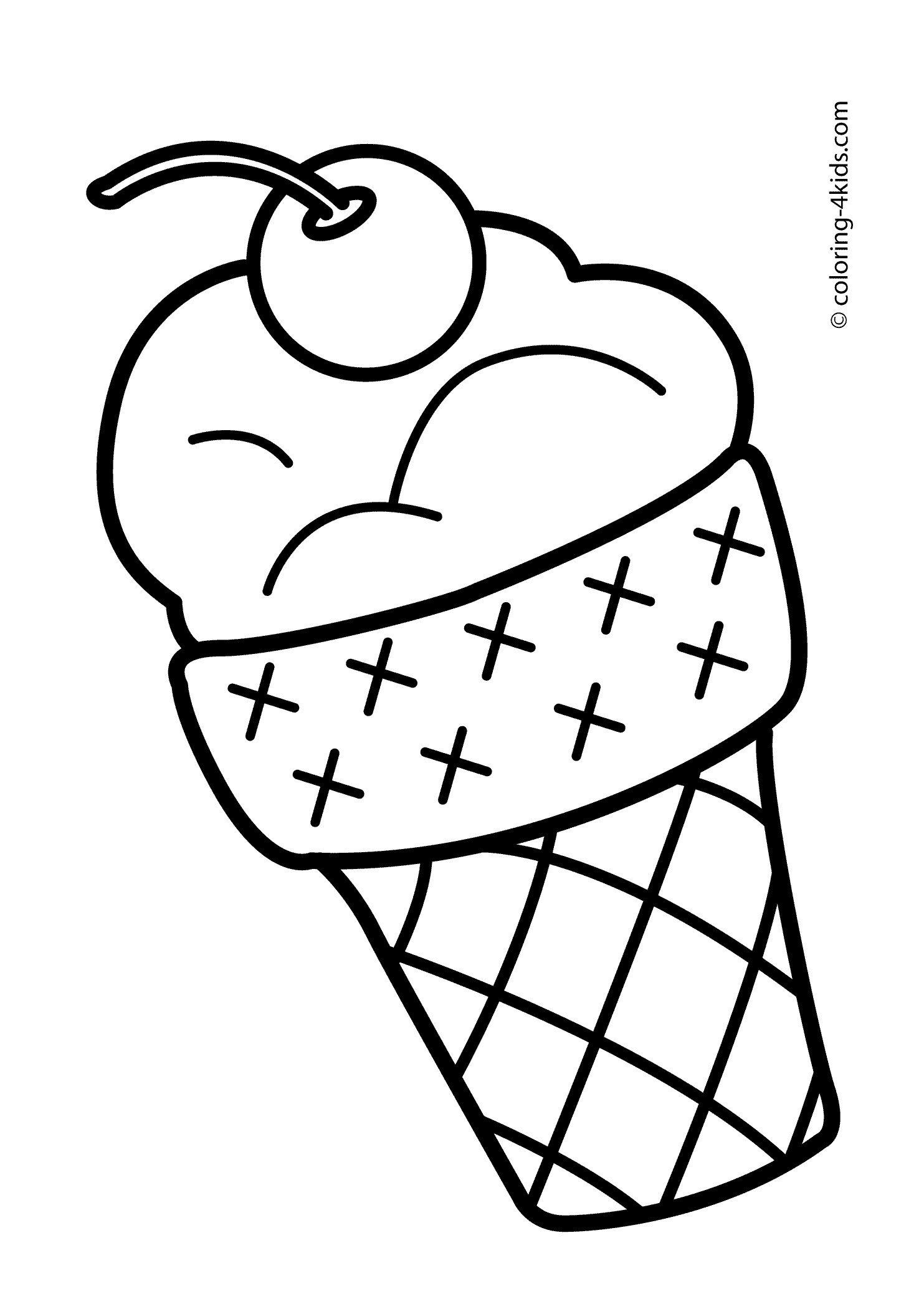 Ice Cream Coloring Pages Unique Ice Cream Cone Coloring Page Cool Coloring Pages Summer Coloring Pages Printable Coloring Book