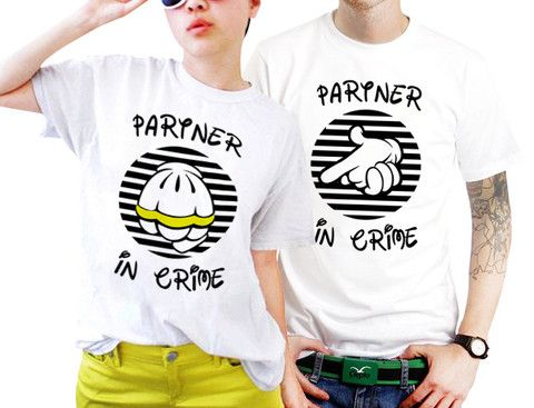 Partner In Crime Couples Matching Shirts, Couples T Shirts, Funny ...