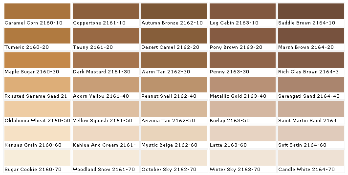 Dress Color Choices Brown Paint
