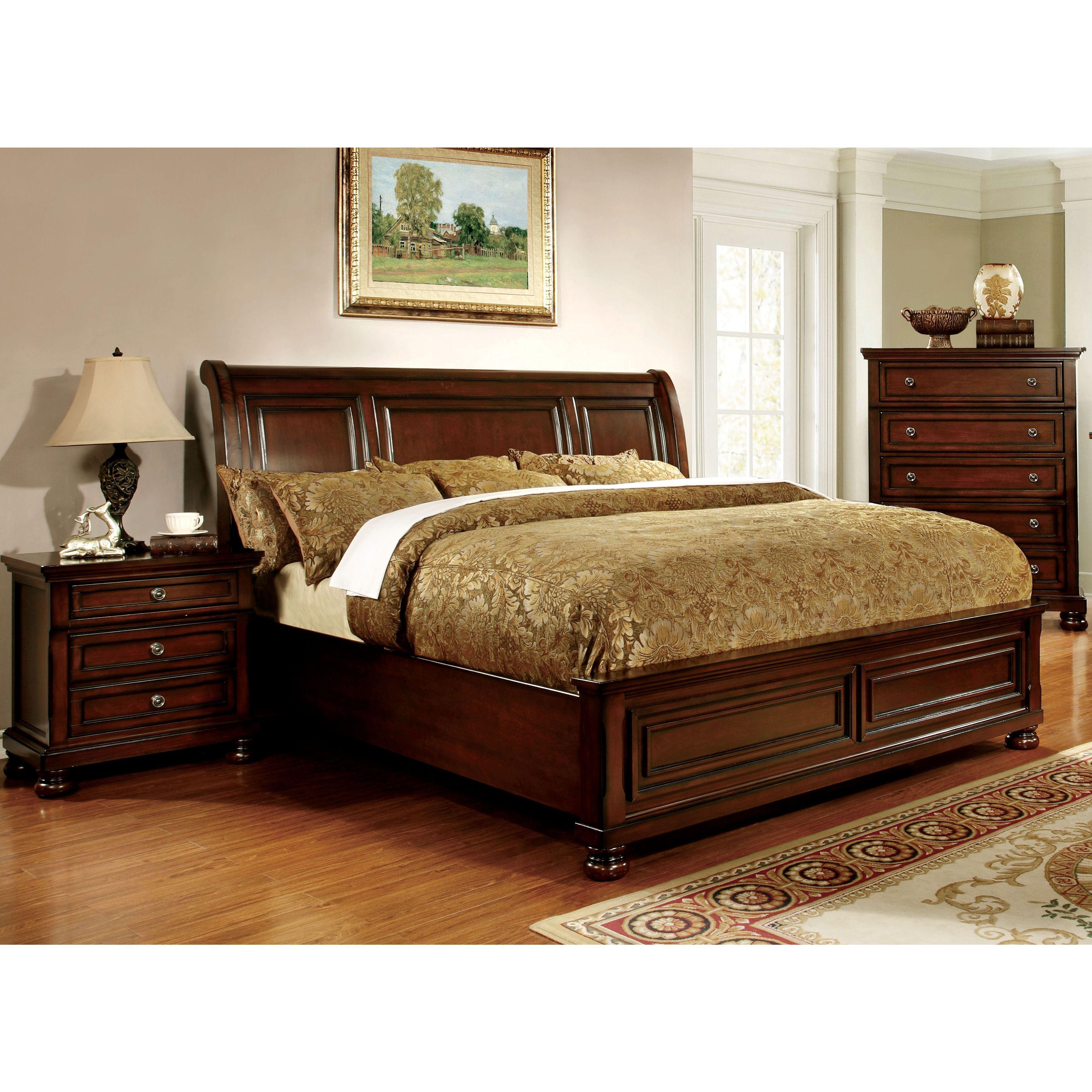 Furniture Of America Barelle Ii Cherry Paneled Bed
