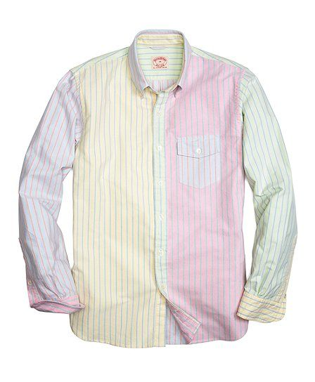 College stripe fun sport shirt brooks brothers fashion for College button down shirts