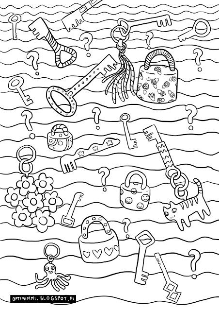Optimimmi A Free Printable Coloring Page Of Keys Locks And