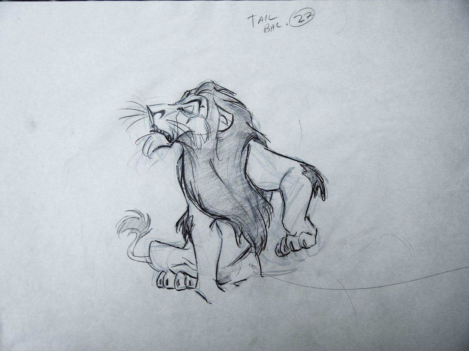 Scar Disney Animator Andreas Deja Disney Drawings
