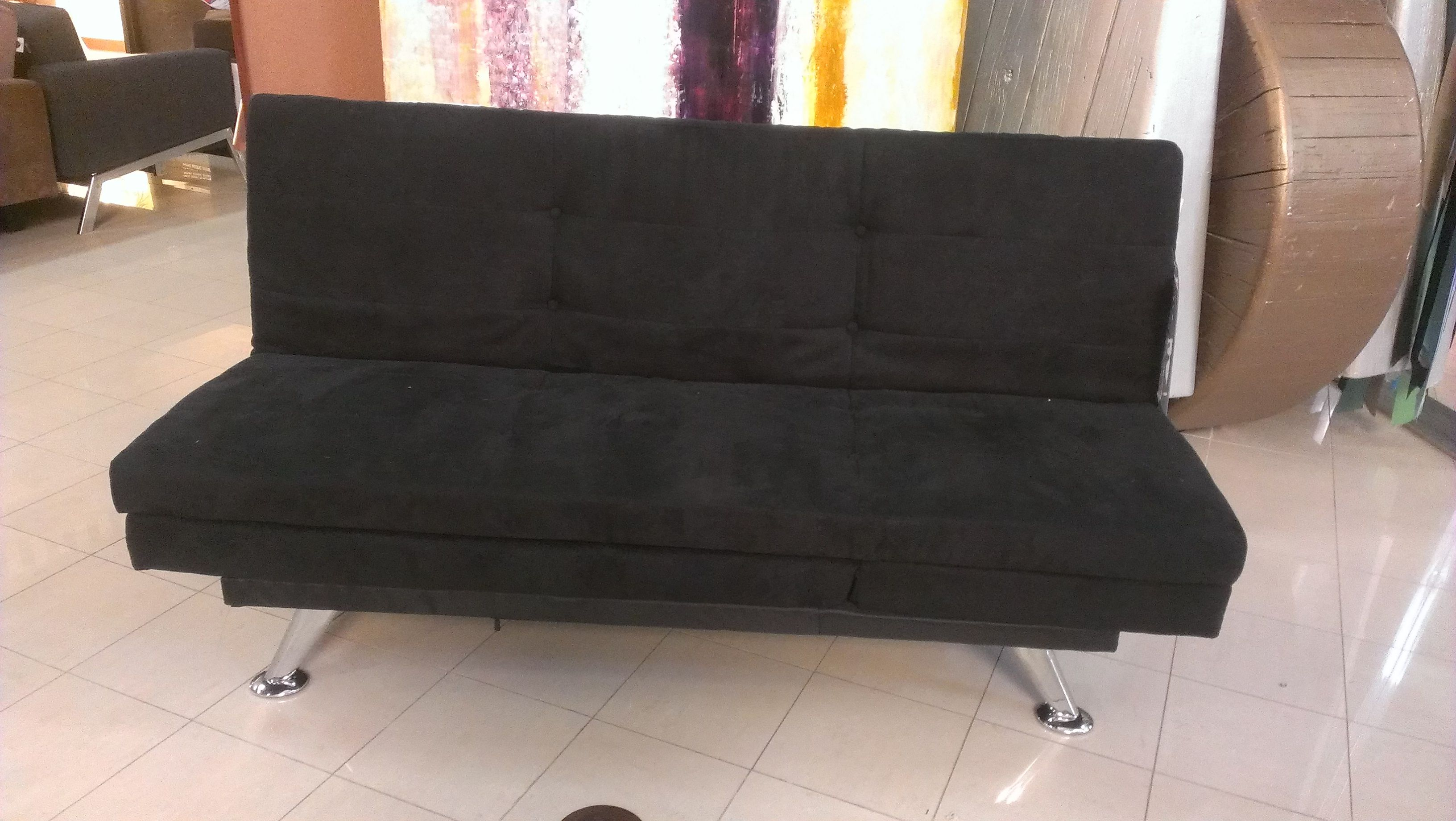A Sleek Black Futon That Will See You Through College To Your First Apt Houston Tx Gallery Furniture