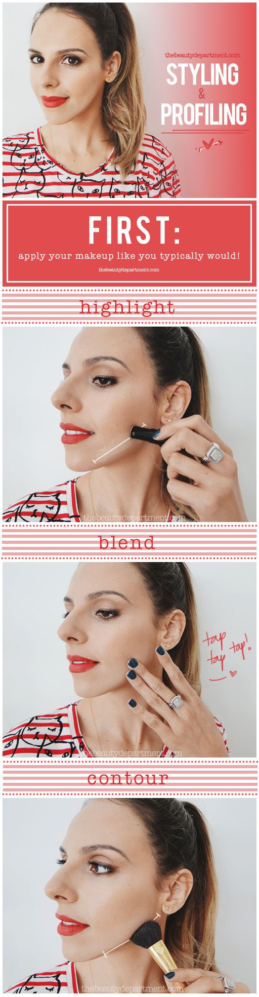I Love All Of The Beauty Department's Contouring Guidesfined Jawline  {via The Beauty Department}