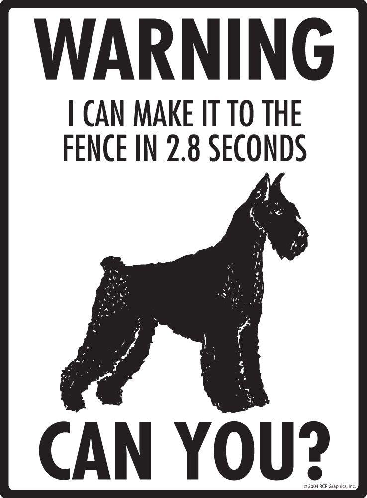 "9/"" x 12/"" Property Protected Aluminum Dog Sign Schnauzer Warning"