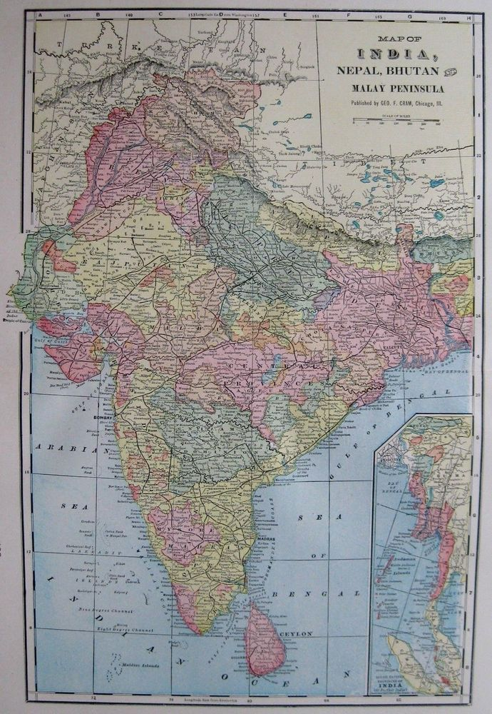 1902 antique india map nepal bhutan malay peninsula vintage 1900s 1902 antique india map nepal bhutan malay peninsula vintage 1900s map atlas map gumiabroncs Choice Image