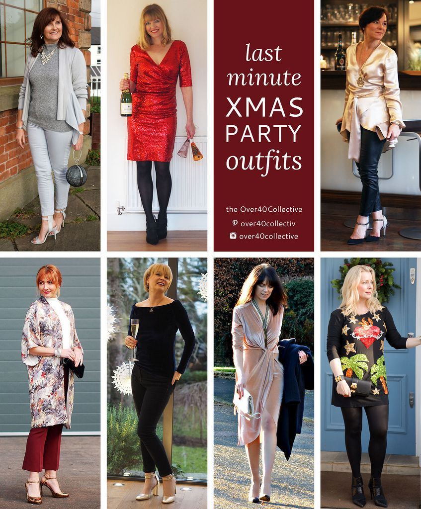 7 Last Minute Christmas Party Outfits From 7 Over 40 Fashion Bloggers The Over40collective Christmas Party Outfits Party Outfit Xmas Party Outfits