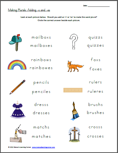 Free Worksheet Making Plurals Free Homeschool Deals Pinterest