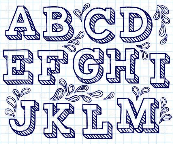 Hand Lettering Alphabet  Alphabets    Planner Ideas