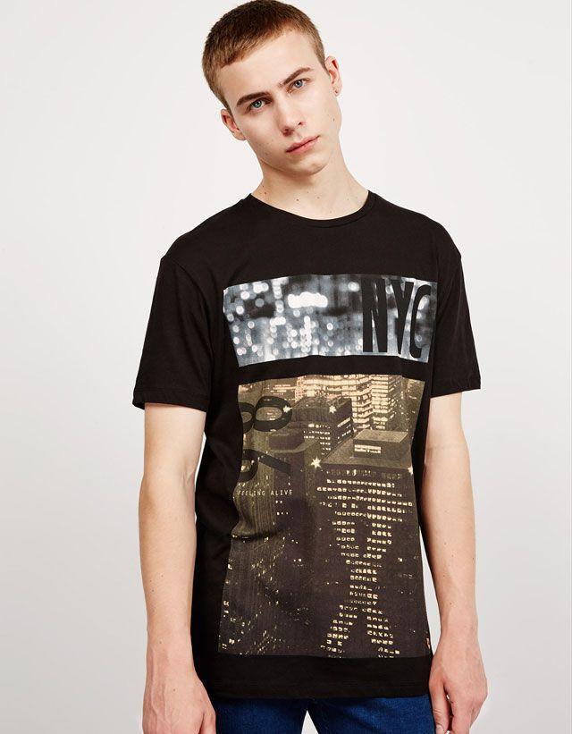 08f1d6d7 T-shirts - NEW COLLECTION - MAN - Bershka Tunisia | MENSWEAR | Mens ...