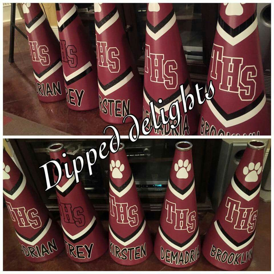 ad7829c47869 Cheer megaphone idea... | Cheerleading | Cheer megaphone ...