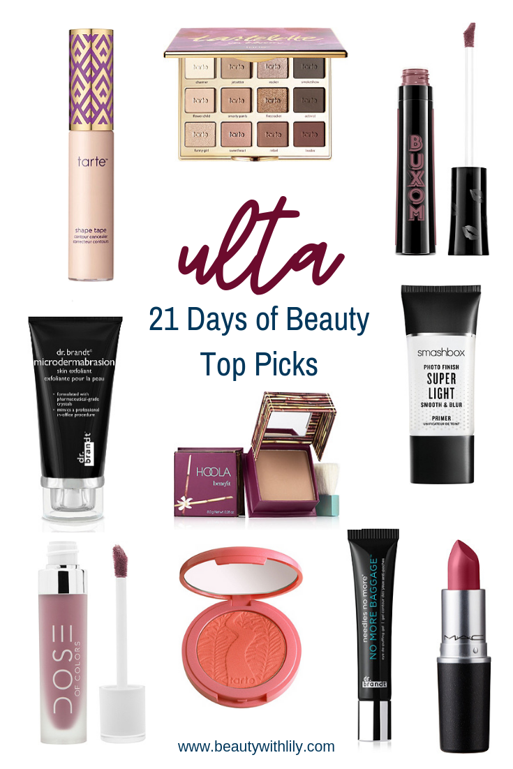 Ulta 21 Days of Beauty Top Picks Best makeup products