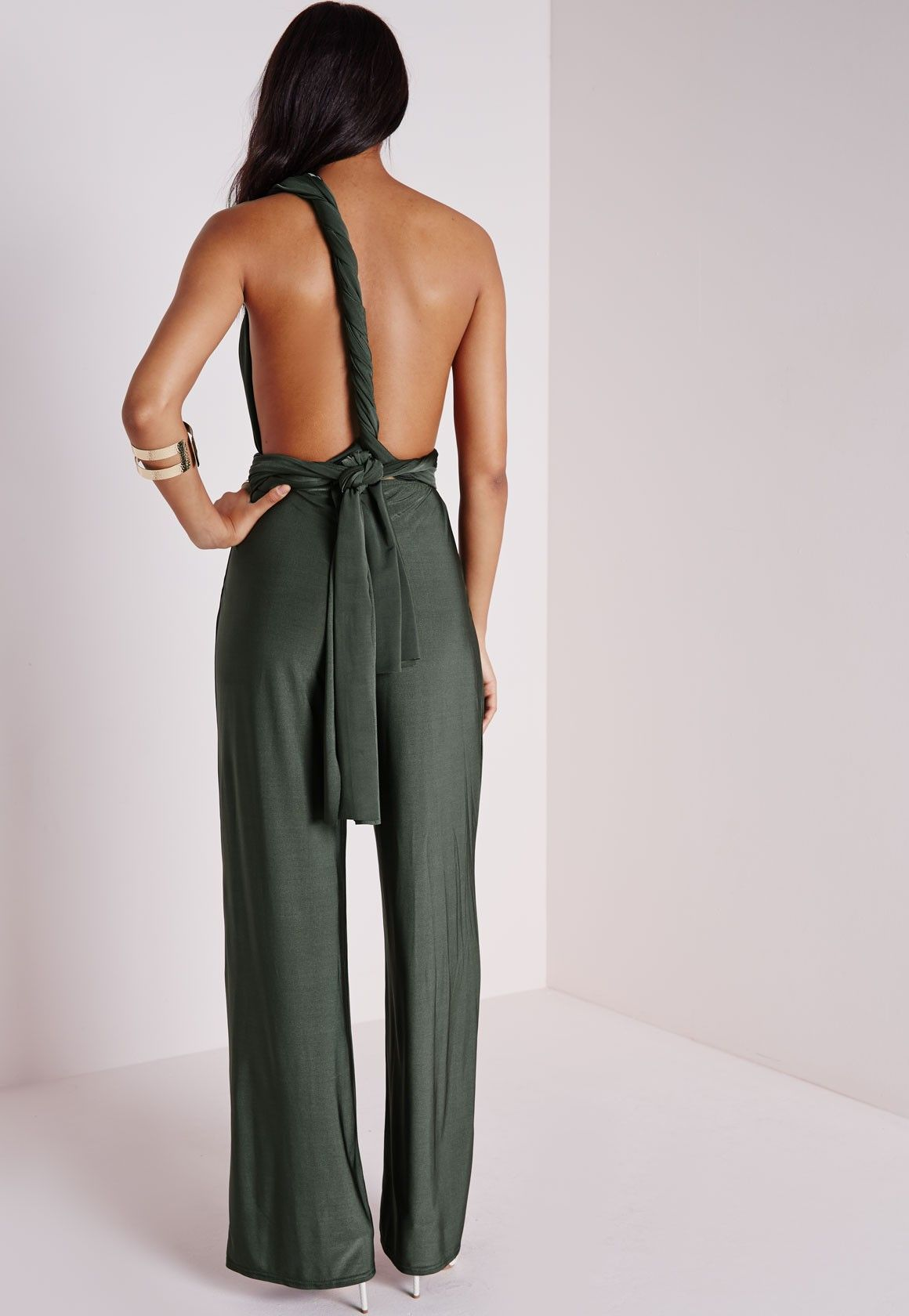 a67e537bb1d Missguided - Do Me Any Way Multiway Jumpsuit Khaki