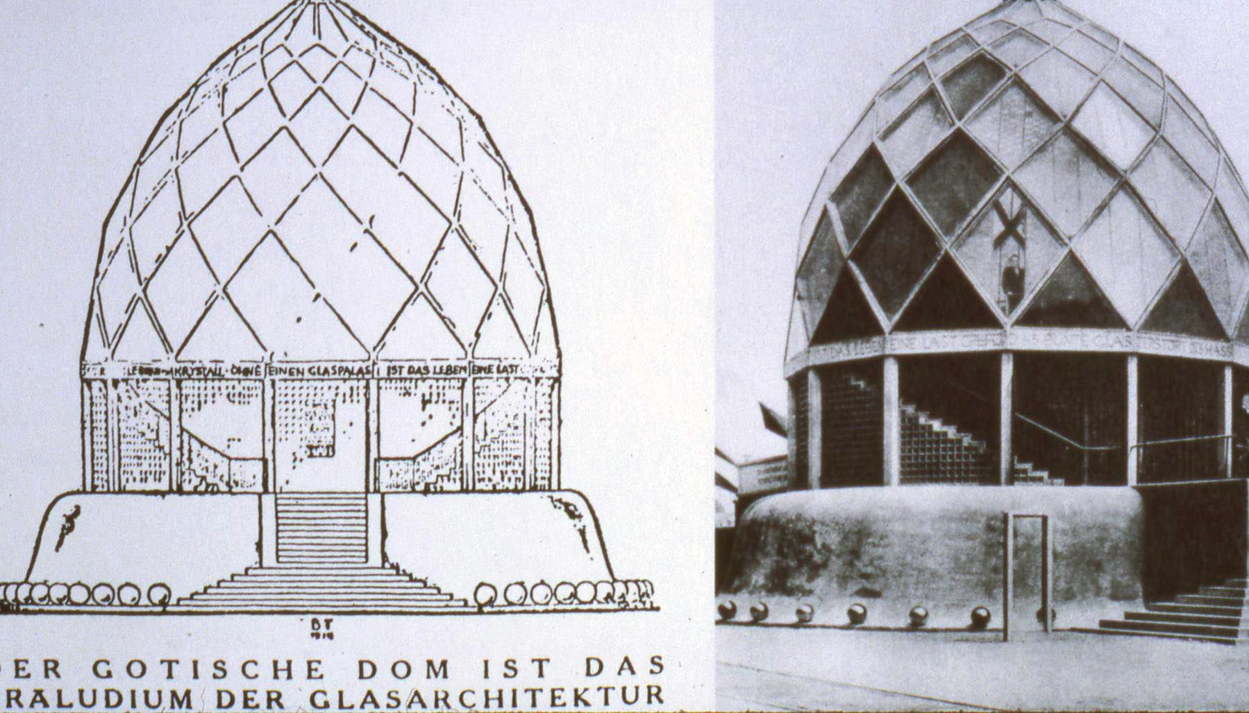 Bruno taut glass pavilion for the 1914 werkbund exhibition in