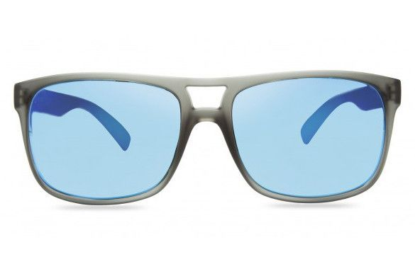 Revo - Holsby Matte Grey Crystal Sunglasses, Blue Water Crystal Lenses